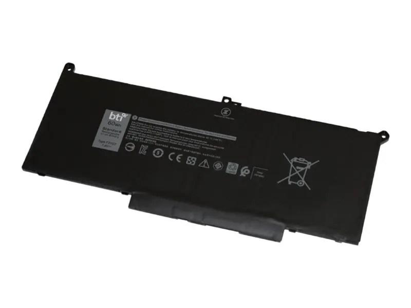 BTI F3YGT-BTI - notebook battery - Li-pol - 7894 mAh - 60 Wh - F3YGT-BTI - Laptop Accessories - CDW.CA