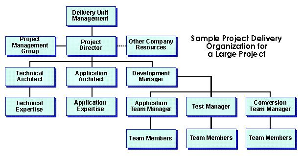 Sample Project Delivery Organization for a large project in DP Sign