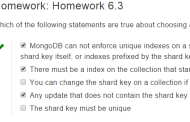 Solution to Homework 6.3 M101JS: MongoDB for Node.js Developers