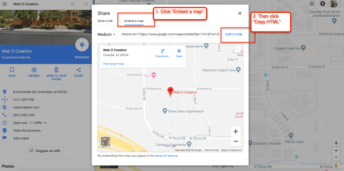Google map embed code