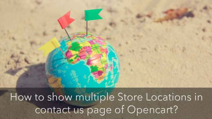 Show store locations on the contact us page