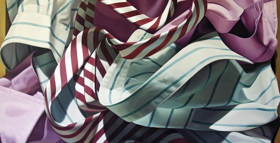 Alberto Magnani, Camicie nel Cassetto, 2018, olio su tela, 90x100 cm
