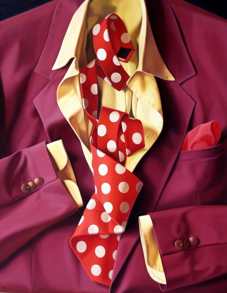 Alberto Magnani, Red Jacket, 2011, olio su tela, 90x70 cm