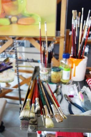 Pennelli con cui dipinge Sabrina Milazzo