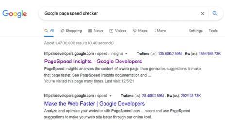 google page speed checker