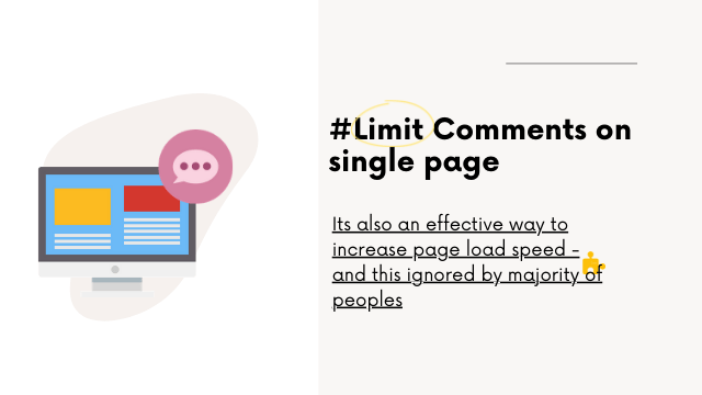 Limit comments on single page top increase the website speed in wordpress
