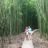 All 3 girls in the bamboo forest