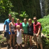 All of us at the falls