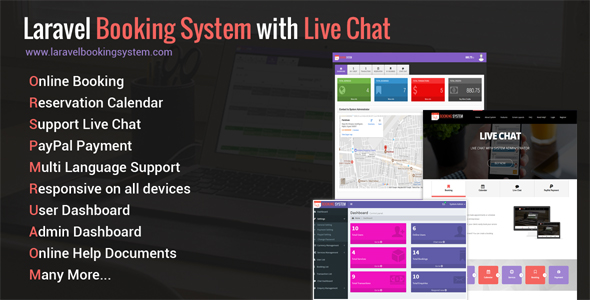 Free Download Laravel Booking System with Live Chat