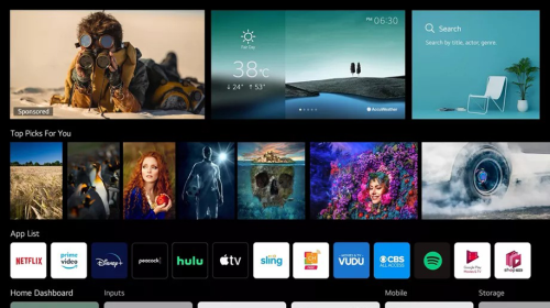 small resolution of screenshot of webos tv 4 0 home