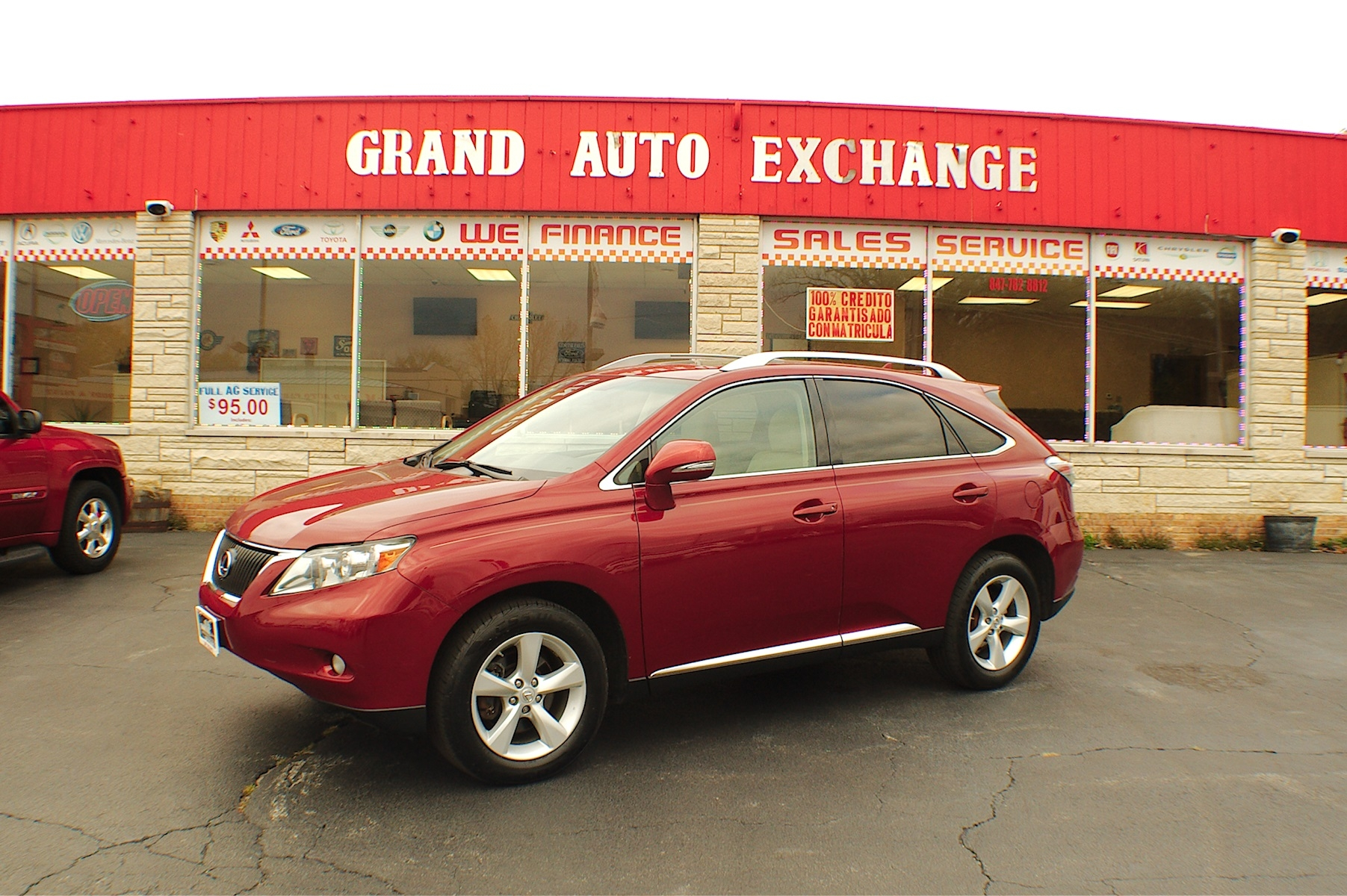 2010 Lexus RX350 AWD Red 4x4 Used SUV Sale