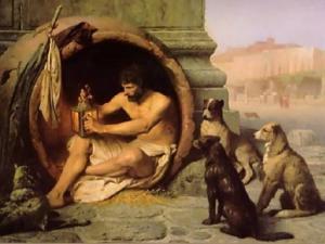 Los cínicos vivían conforme a sus ideas y reivindicaban su identidad canina.