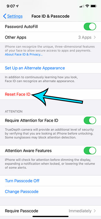 how to reset face ID on an iPhone 11