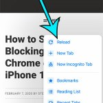 How to Reload or Refresh a Web Page in the Chrome iPhone App