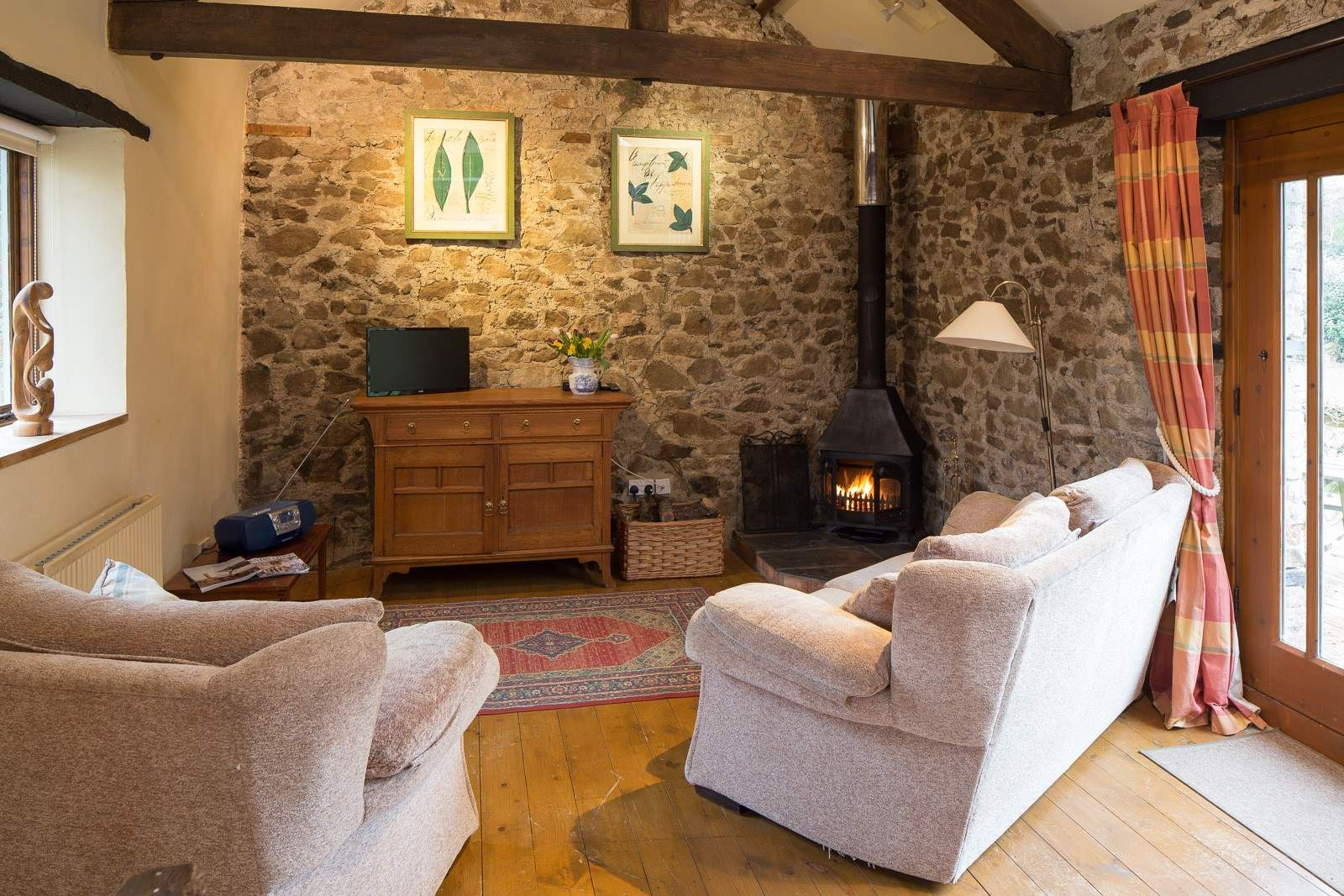 cosy living room with log burner lamps for rooms the granary reviews read of in devon dartmoor wood