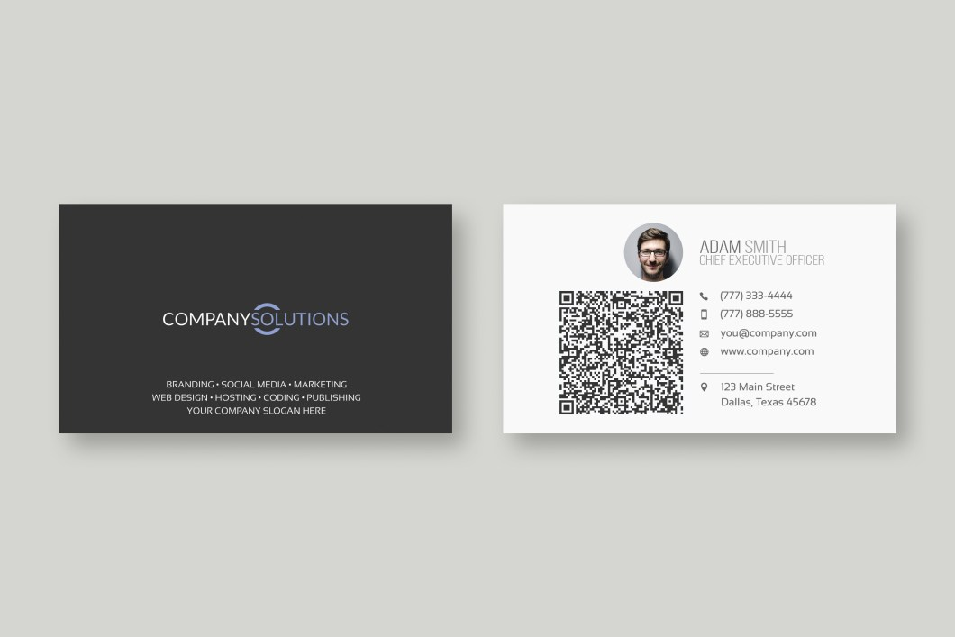 Qr codes on business cards cardjdi modern qr code business card template web plant media fbccfo Gallery