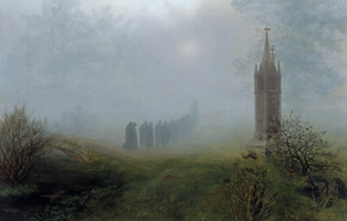 Ernst Ferdinand Oehme, 1797–1855. Procession in the Fog, 1828. Oil on canvas, 81,5 × 105,5 cm. © Galerie Neue Meister, Staatliche Kunstsammlungen Dresden