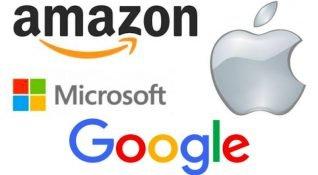 Amazon, Apple, Microsoft ve Alphabet 1 trilyon değerlemeye hızla ilerliyor