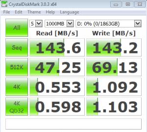 Seagate 2TB CrystalDiskMark