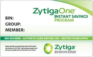 ZytigaOne Instant Savings Program