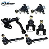 DLZ 7 Pcs Suspension Kit-4 Front Lower Ball Joints, 2 Inner Tie Rod Ends, 1 Idler Arm for 1994