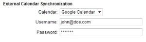 Booking calendar integration with Google Calendar