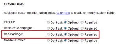 Custom Fields in Customer Information