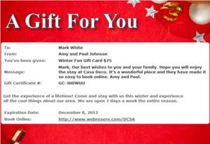 WebReserv Gift Card