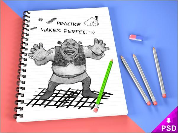 Sketch Book Mock-up