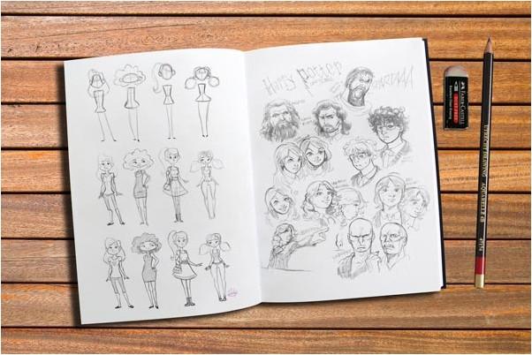 Sketch Book Mockup PSD