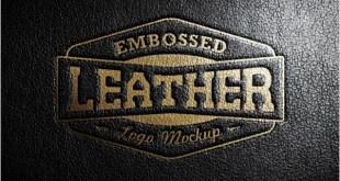 Leather Stamping Logo MockUp # 3