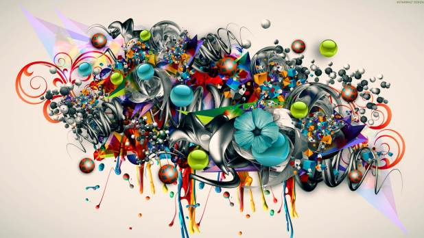 2560 × 1440 GraphicAbstract Graffiti Wallpaper