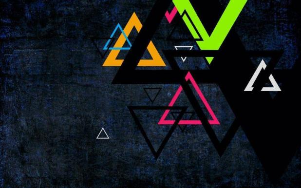 1024 × 640 Preview wallpaper Color Triangle