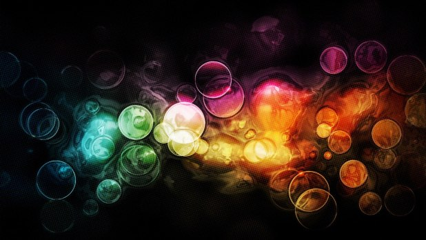 1920 × 1080 Colorful Bubble wallpaper abstract, 3d, art 1920 × 1080