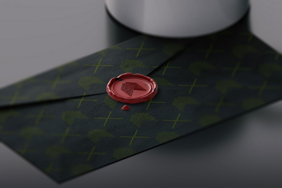 A collection of design inspiration titled wax seal mockup by raj singh. Envelope With Wax Stamp Mockup Webrfree