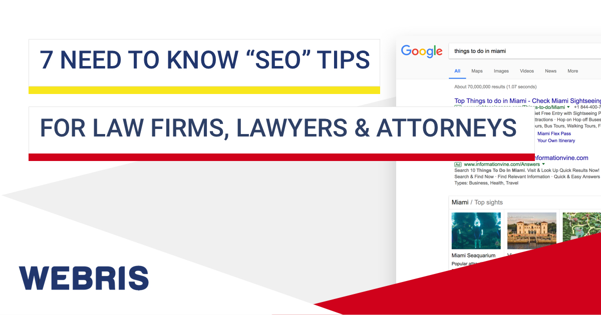 7 SEO Tips for Law Firms, Lawyers & Attorneys [MUST READ]