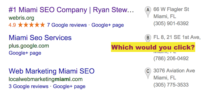 Google Local Results Miami SEO
