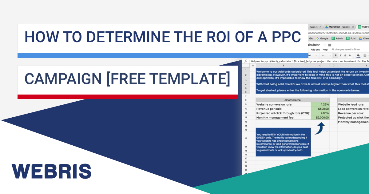 How To Determine Roi Of A Ppc Campaign Free Template