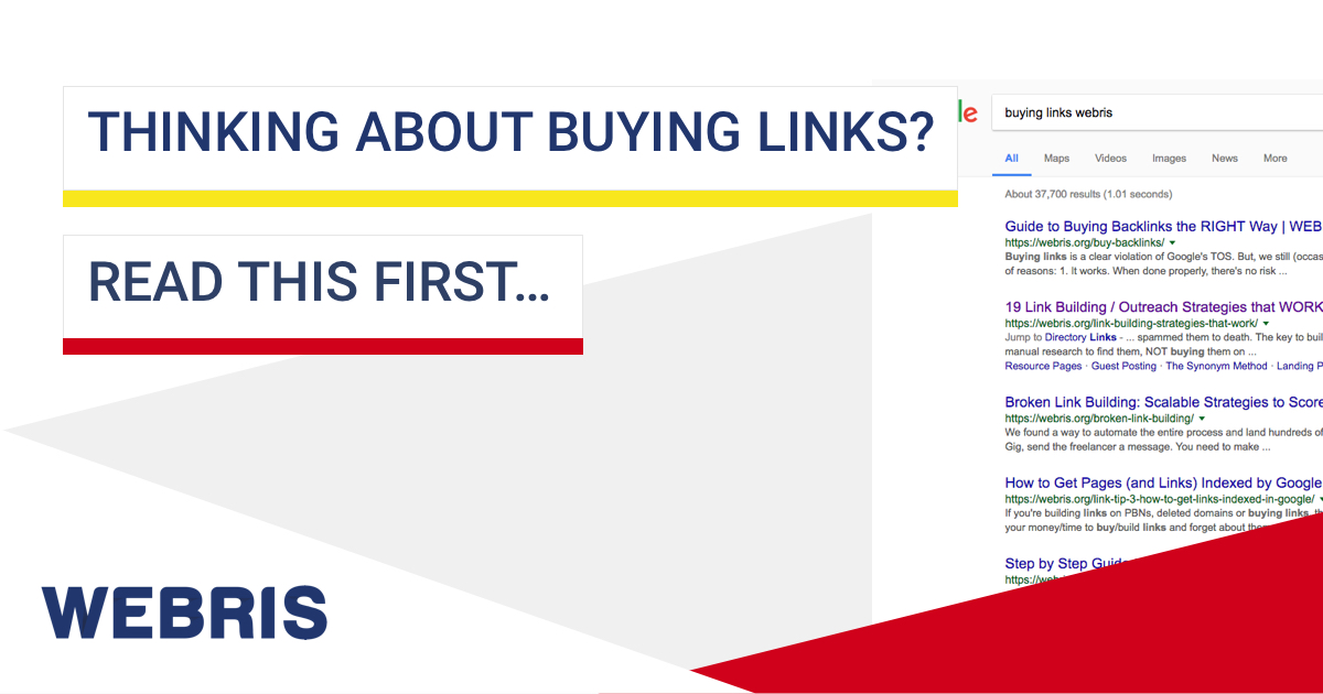 Thinking About Buying Links For Seo Read This First Webris