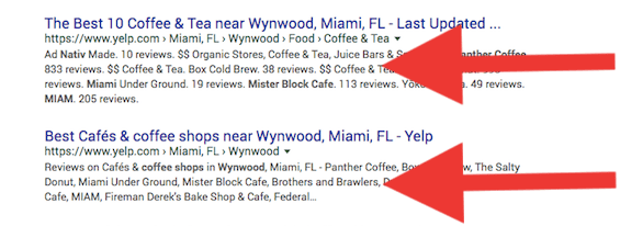 local serp analysis