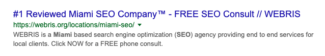 seo page title example