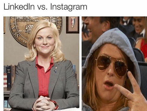 linedin vs instagram