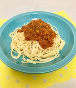 手作りミートソーススパゲティ