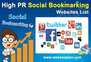 Top Dofollow High PR Social Bookmarking Sites List