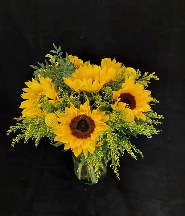 Klassieke Biedermeier met zonnebloemen