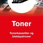 Infromsajonsskilt om avfallstypen Toner