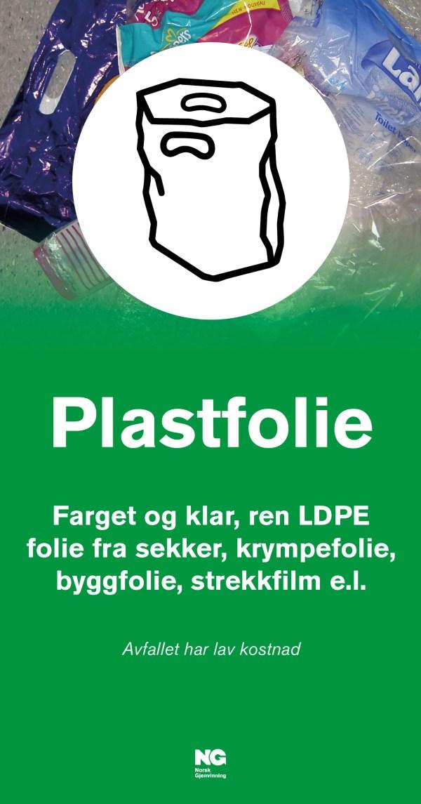 Plastfolie Veggskilt str 22x42