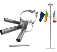 flagholder - lamp post with 3 arm flagholder