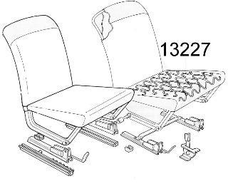 Sitzfeder (ca. 43 cm) Fiat 500 F/L/R/126/126 BIS/600/600D