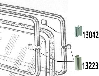 Chromklammer für Fensterrahmen Fiat 500/126/600/124/128
